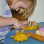 being creative with playdough