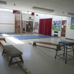 PE apparatus in the school hall